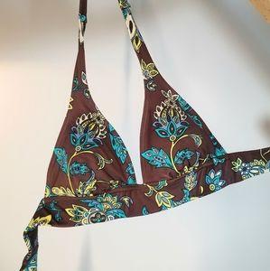 Victoria's Secret   Bikini Top Floral   Brown VS